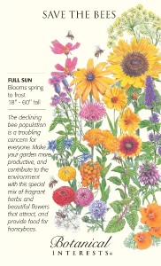 Botanical Interests Save the bees mix