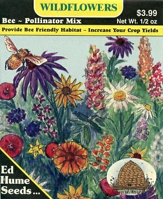 Plant a bee garden pierce county beekeepers association ed hume bee pollinator mix mightylinksfo